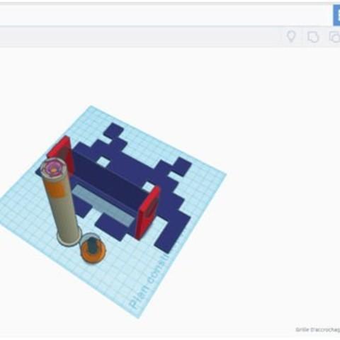 Image-Space-invader-Tinkercad.jpg Download free STL file Space Invader Toilet Paper Holder • 3D printable design, lpxav