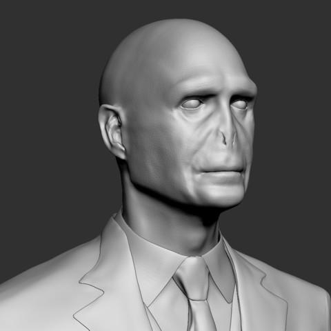 Voldemort_08.jpg Download OBJ file Voldemort Bust • 3D printing model, Ben_M