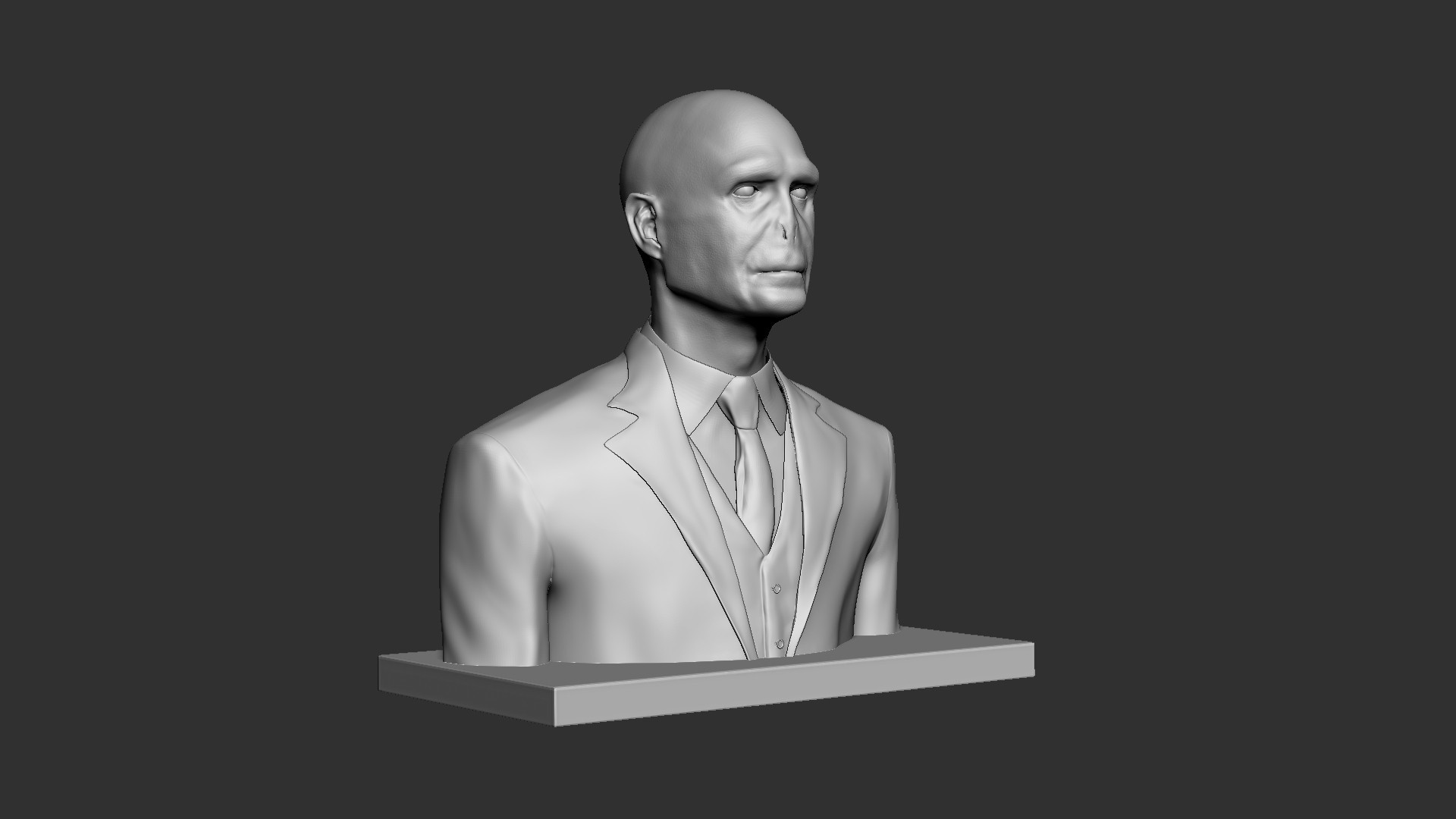 Voldemort_01.jpg Download OBJ file Voldemort Bust • 3D printing model, Ben_M