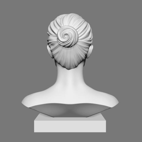 Portman_03.png Download OBJ file Natalie Portman Bust • 3D printing object, Ben_M