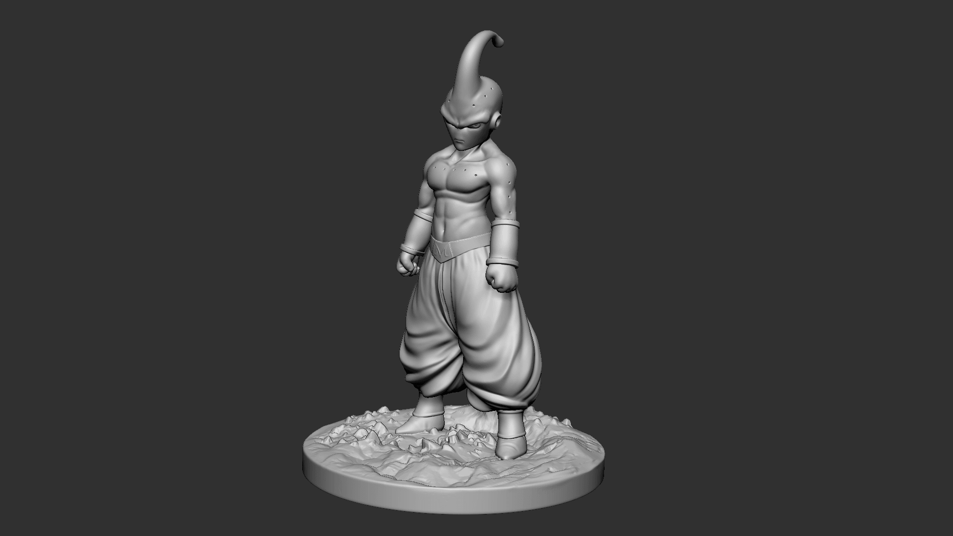 Buu_05.png Download OBJ file Kid Buu Dragon Ball Z • 3D print model, Ben_M