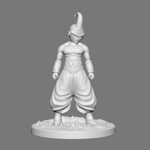 Buu_01.png Download OBJ file Kid Buu Dragon Ball Z • 3D print model, Ben_M