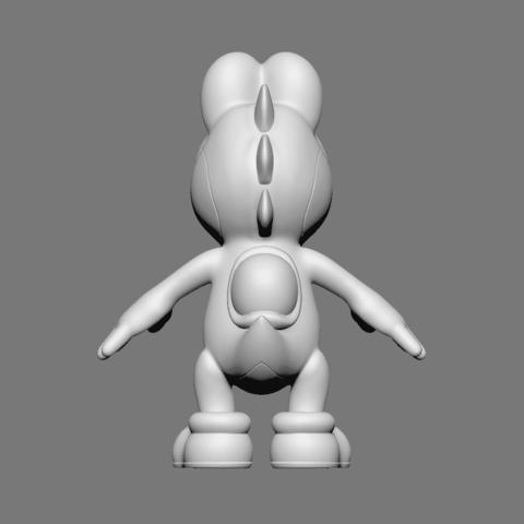 Yoshi_03.png Download free OBJ file Yoshi • Model to 3D print, Ben_M