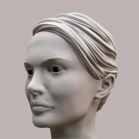 Portman_Render_02.png Download OBJ file Natalie Portman Bust • 3D printing object, Ben_M