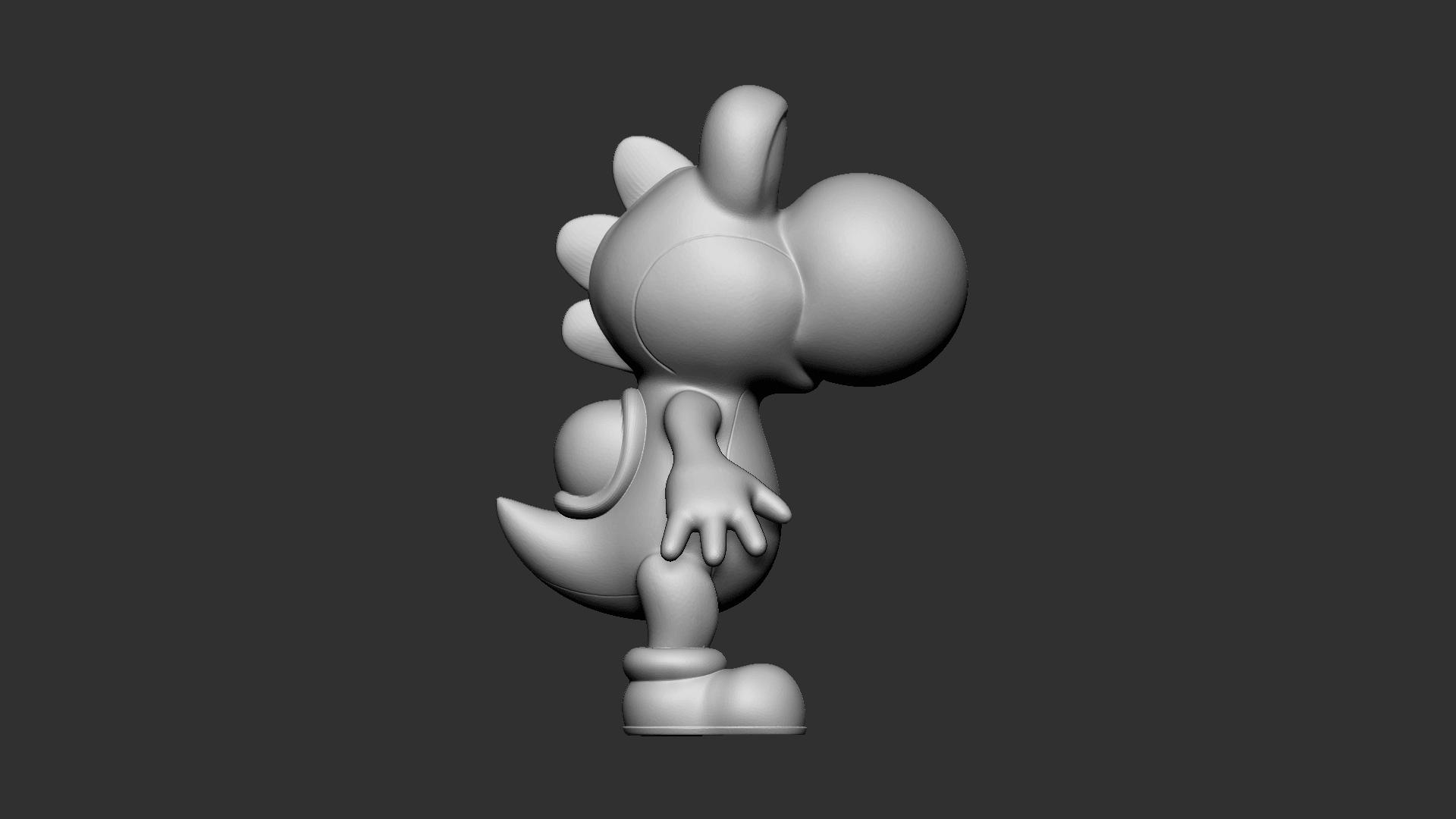Yoshi_02.png Download free OBJ file Yoshi • Model to 3D print, Ben_M