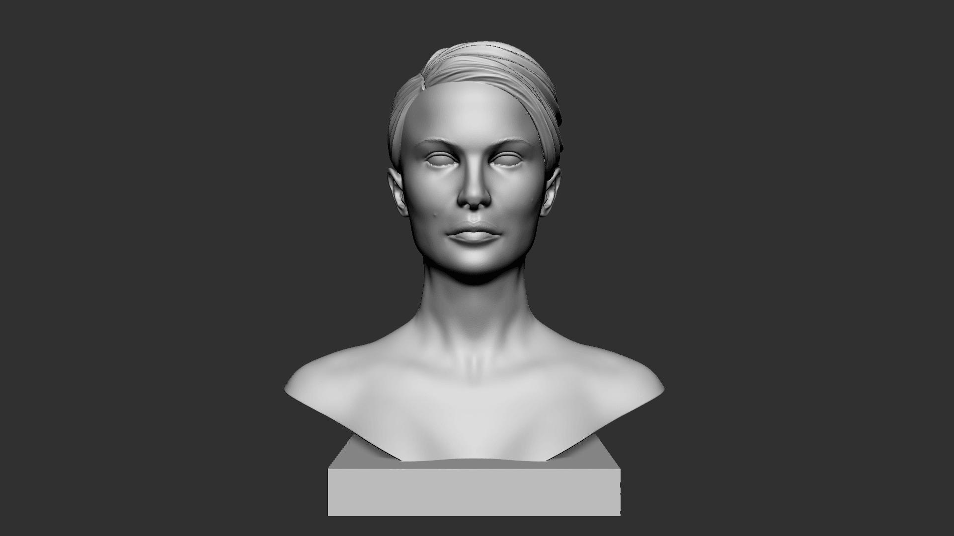 Portman_01.png Download OBJ file Natalie Portman Bust • 3D printing object, Ben_M