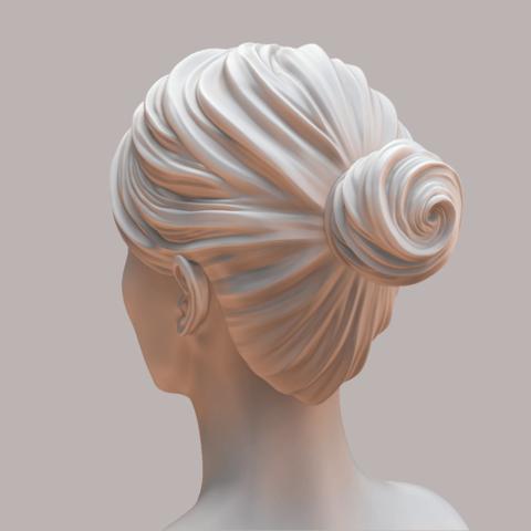 Portman_Render_04.png Download OBJ file Natalie Portman Bust • 3D printing object, Ben_M