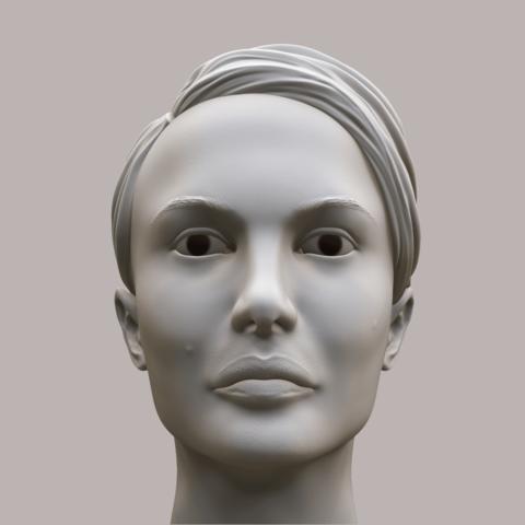 Portman_Render_03.png Download OBJ file Natalie Portman Bust • 3D printing object, Ben_M