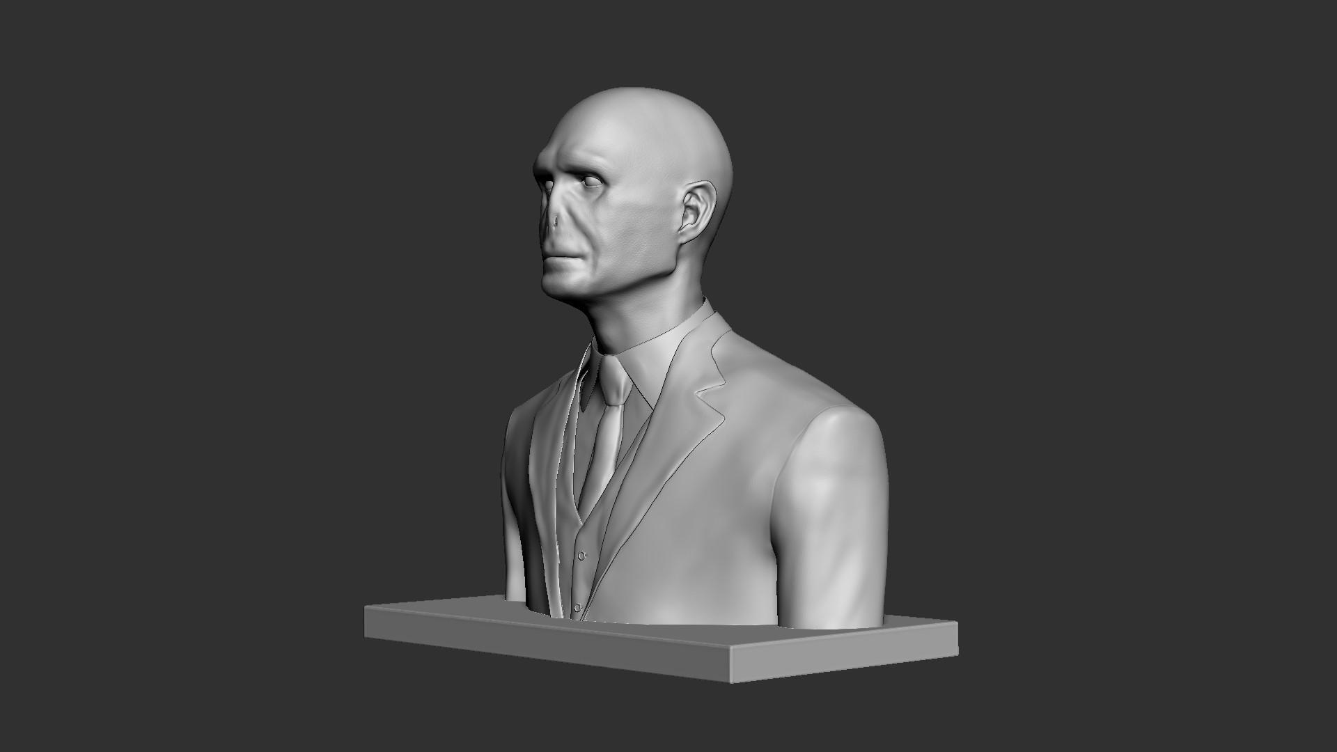 Voldemort_04.jpg Download OBJ file Voldemort Bust • 3D printing model, Ben_M