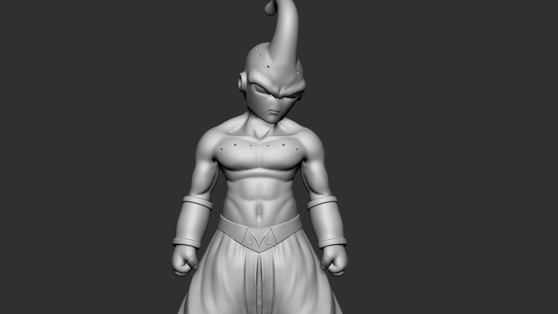 Buu_07.png Download OBJ file Kid Buu Dragon Ball Z • 3D print model, Ben_M