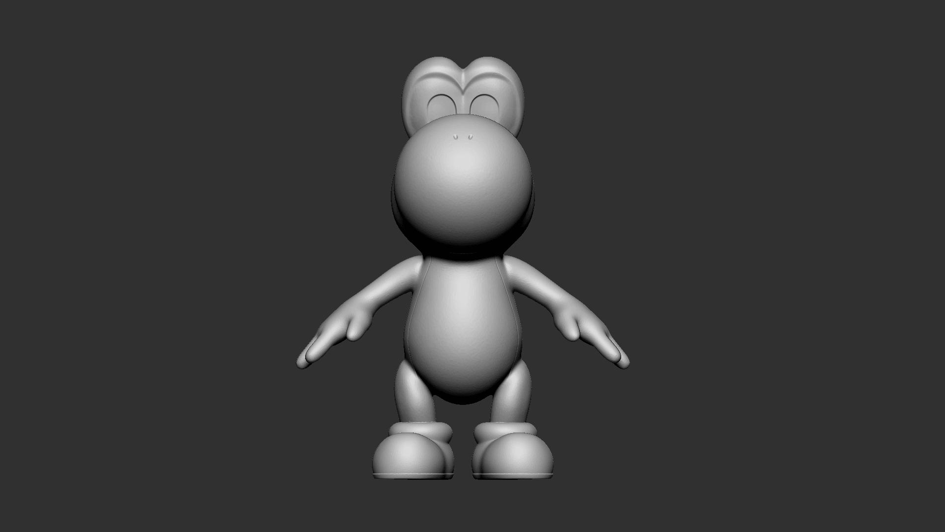 Yoshi_01.png Download free OBJ file Yoshi • Model to 3D print, Ben_M