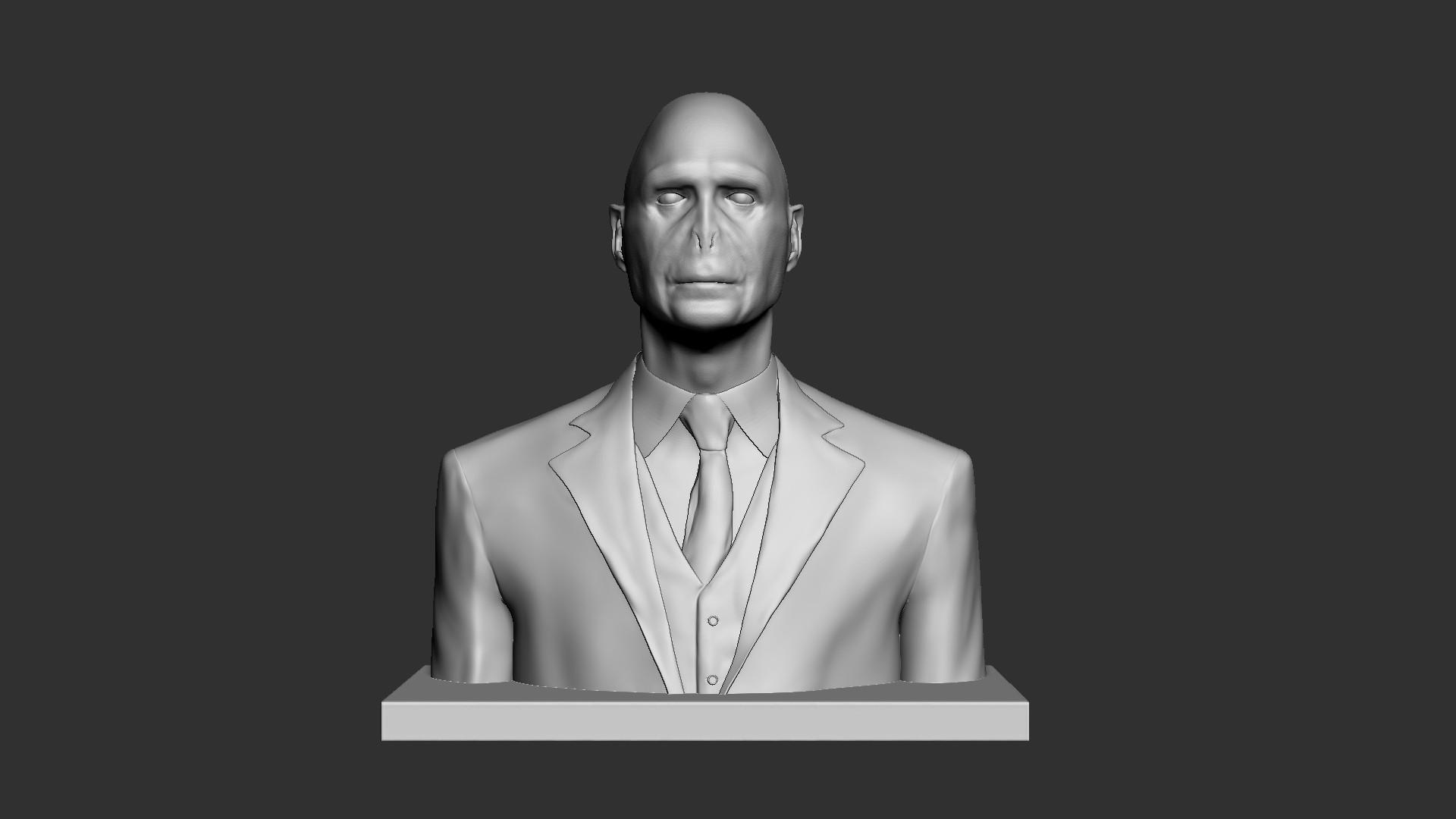 Voldemort_02.jpg Download OBJ file Voldemort Bust • 3D printing model, Ben_M
