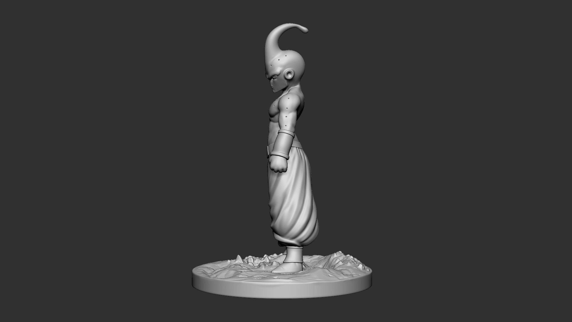 Buu_04.png Download OBJ file Kid Buu Dragon Ball Z • 3D print model, Ben_M