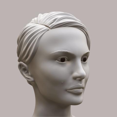 Portman_Render_01.png Download OBJ file Natalie Portman Bust • 3D printing object, Ben_M