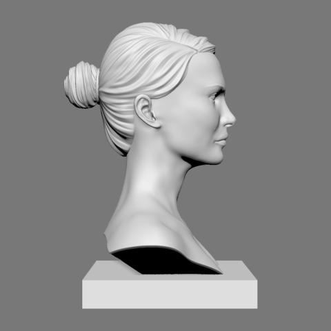 Portman_02.png Download OBJ file Natalie Portman Bust • 3D printing object, Ben_M