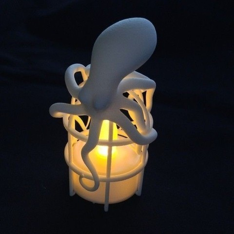 1.jpg Download STL file Octopus LED Candle Cover • 3D printing template, Shige