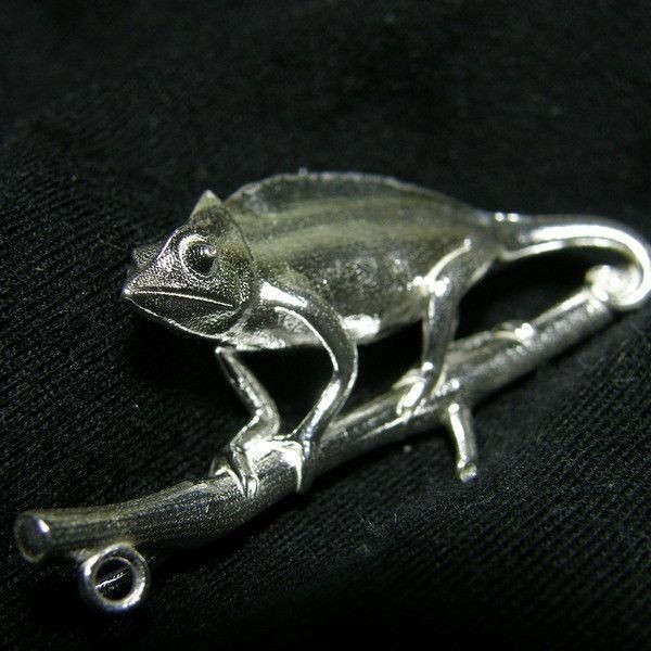 1.jpg Download STL file Chameleon Pendant • Template to 3D print, Shige