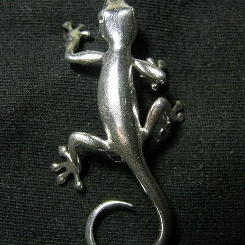 1.jpg Download STL file Gecko Pendant • 3D print object, Shige