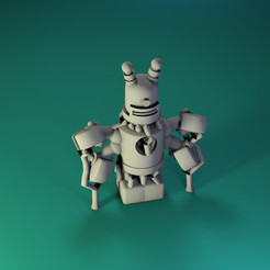 Download free STL files Dr Fluff Robot, ThinkerThing