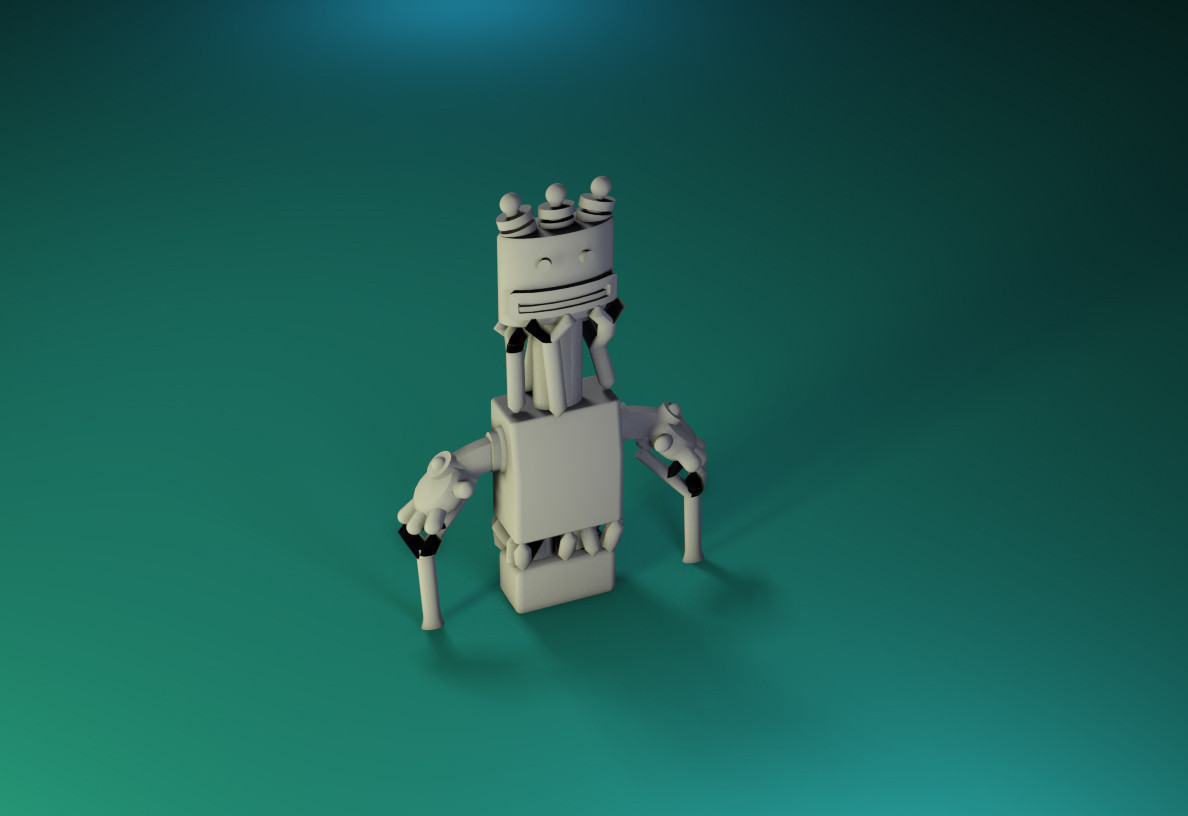 model14.jpg Download free STL file Dr Fluff Robot, Tall Ted • 3D printable template, ThinkerThing