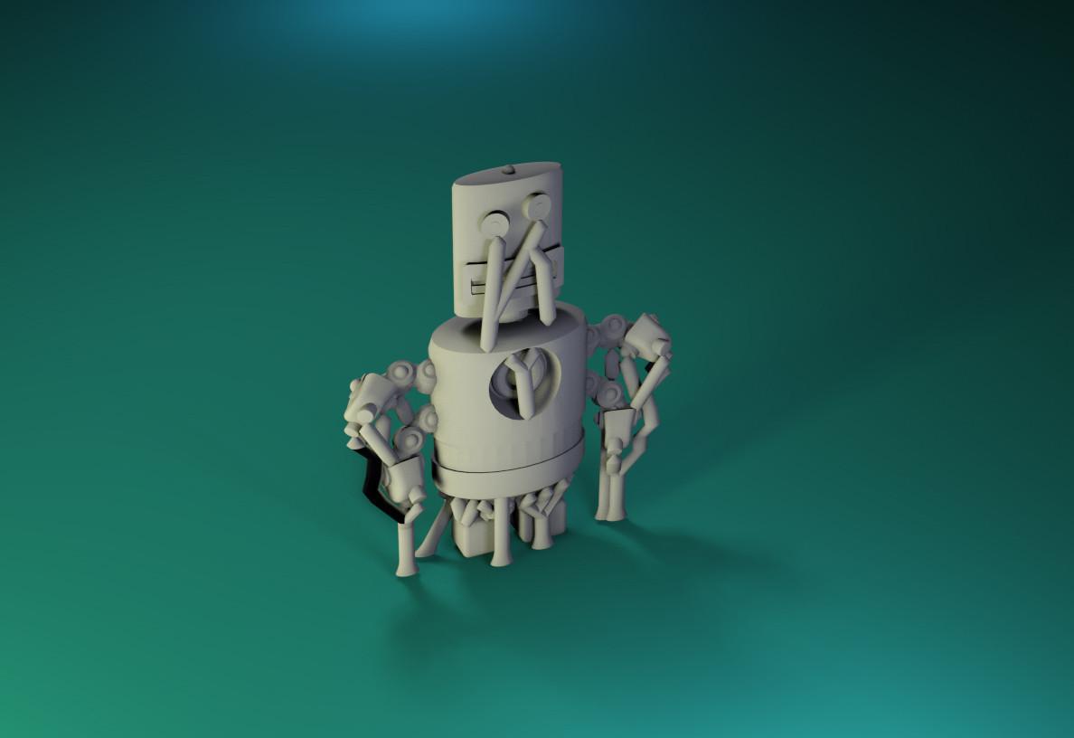 model15.jpg Download free STL file Dr Fluff Robot, Flat Freddy • 3D printable design, ThinkerThing