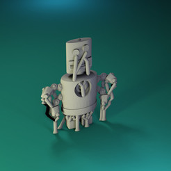 Free 3D model Dr Fluff Robot, Flat Freddy, ThinkerThing