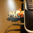 Free STL USB robot Dr Fluff, ThinkerThing