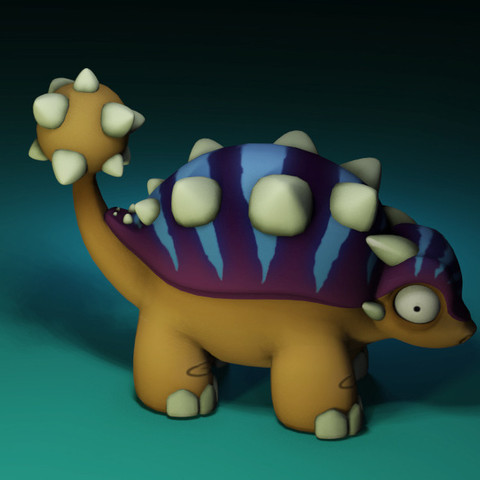 Download free STL file Euoplocephalus from the makers of Dr Fluff, ThinkerThing
