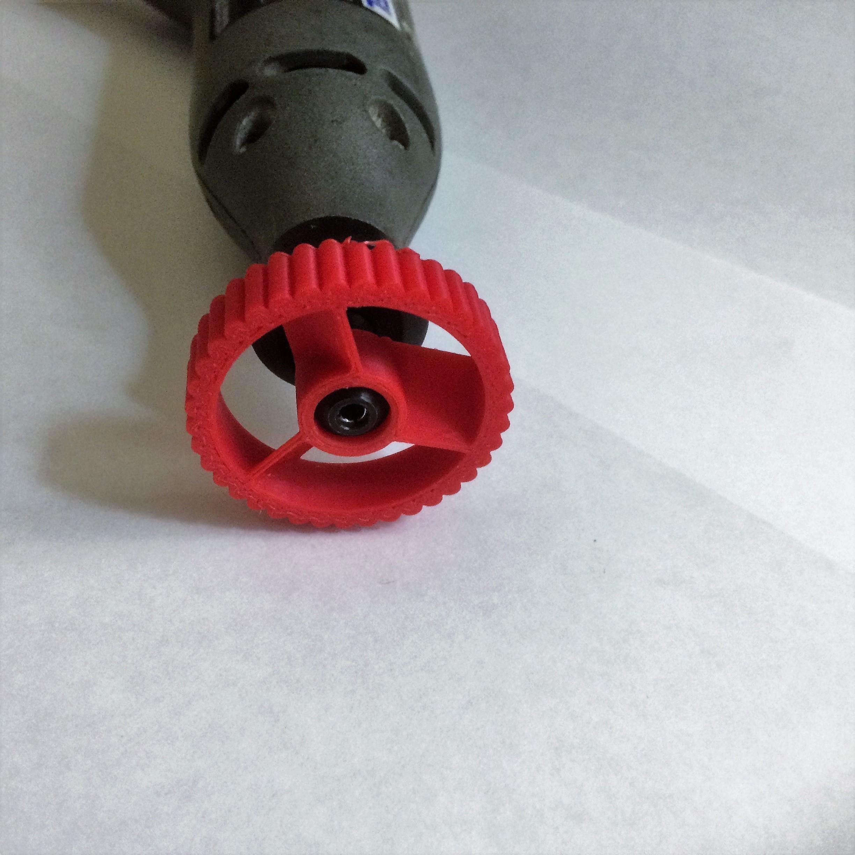 IMG_0720.JPG Download STL file Dremel (4485) Collet Nut Blower Adapter • 3D printer model, SuperbSTLfiles