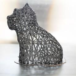 Plan imprimante 3D gatuit West Highland White Terrier Voronoi, Imprimiendo3D