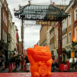 Download free STL maneki-neko money cat, Imprimiendo3D