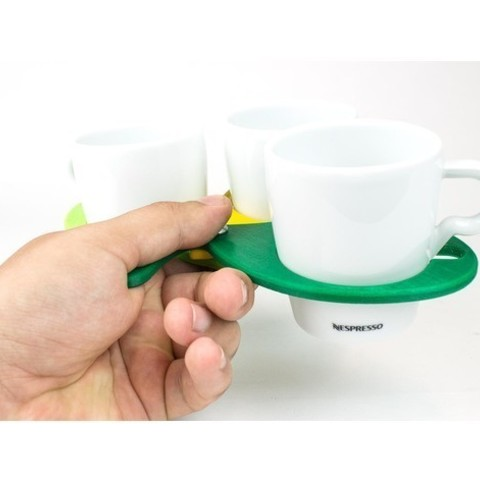 Download free STL file colorFabb Coffee Cup Holder • 3D printable design, colorFabb