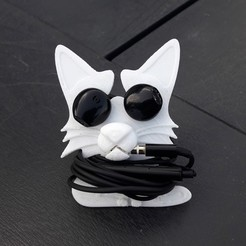 3D printer models Headphone roll-up cat, Cocoverte