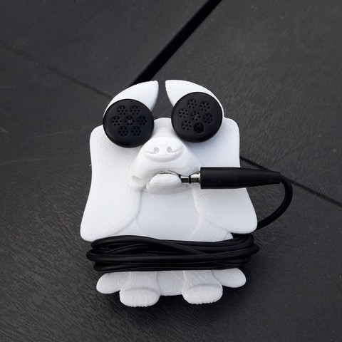 Download 3D model Headphone retractor dog, Cocoverte