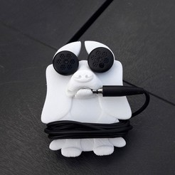 3D printer files Headphone retractor dog, Cocoverte