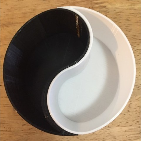 2f500dbe6ad737c1fc54cacb53b8bc88_preview_featured.jpg Download free STL file Customizable Yin-Yang Planter / Container • 3D printer design, Lucina