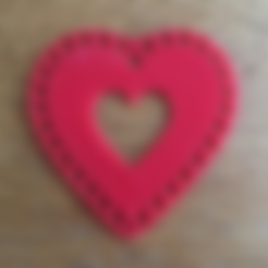 Download free STL file Heart Doily Valentine • 3D printer template, Lucina