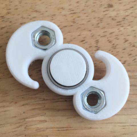 Archivos 3D gratis Mi hilandero personalizado M8 Yin-Yang Fidget, Lucina