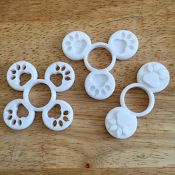 Capture d'écran 2017-08-22 à 09.48.41.png Download free STL file Customizable Paw Fidget Spinner • 3D printable design, Lucina