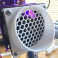 Imprimir en 3D gratis Parrilla de redirección de backdraft de ventilador de 60 mm y 40 mm, Lucina