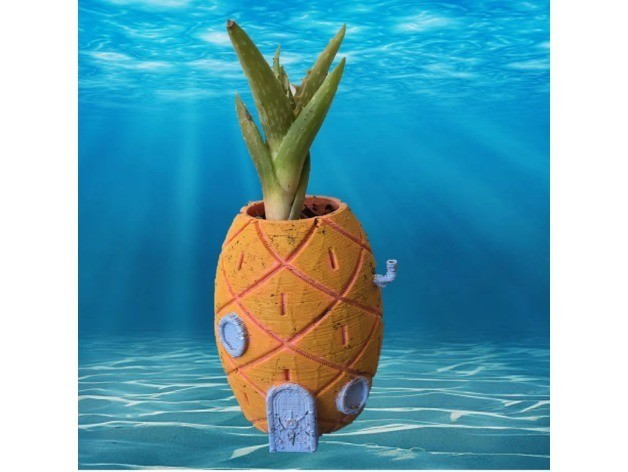 1020badd5b041d357dd0761ef7ea656b_preview_featured.JPG Download free STL file Remix: Spongebob's House Planter • Template to 3D print, Lucina