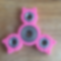 Download free STL file Triple Hex Nut Cat Spinner • 3D printer template, Lucina