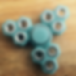Download free STL file Hex Triple Triple Fidget Spinner • Object to 3D print, Lucina