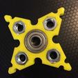 Modelos 3D para imprimir gratis Estrella adaptable de Ninja (copo de nieve?) Fidget Spinner, Lucina