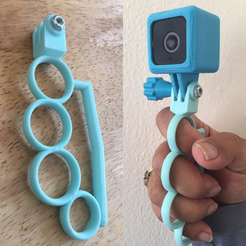 Free 3D printer file Customizable GoPro Knuckle Grip, Lucina