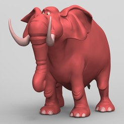 COLOR_PRINT_ELEPHANT.jpg Download OBJ file Toon Elephant • 3D print design, EddieChristian