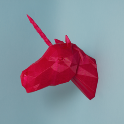 Download free 3D printer model Unicorn Head, Atomicosstudio