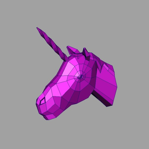 Capture d'écran 2017-01-18 à 12.24.45.png Download free STL file Unicorn Head • 3D printer object, Atomicosstudio