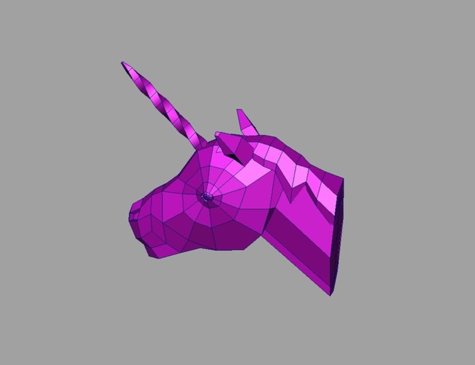 Capture d'écran 2017-01-18 à 12.24.41.png Download free STL file Unicorn Head • 3D printer object, Atomicosstudio