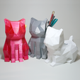 3D printing model Polycats (Desk Pets), Atomicosstudio